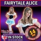 FANCY DRESS COSTUME # ALICE IN WONDERLAND MEDIUM MED 10-12